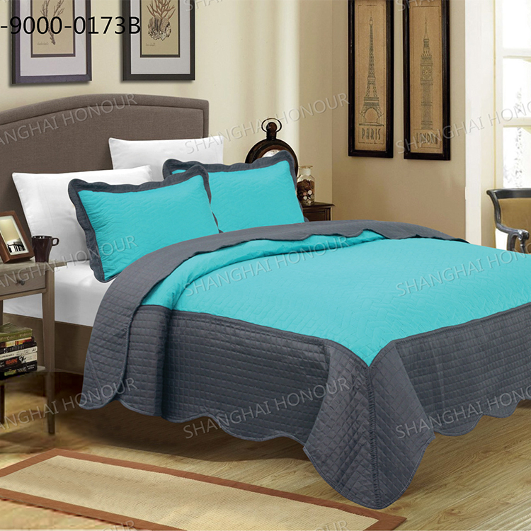 Bicolor Solid Microfier Ultrasonic Quilt
